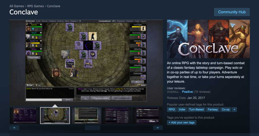 Conclave on Steam